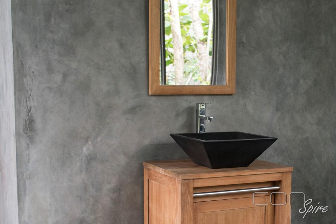 Square Cone Black Terrazzo Sink