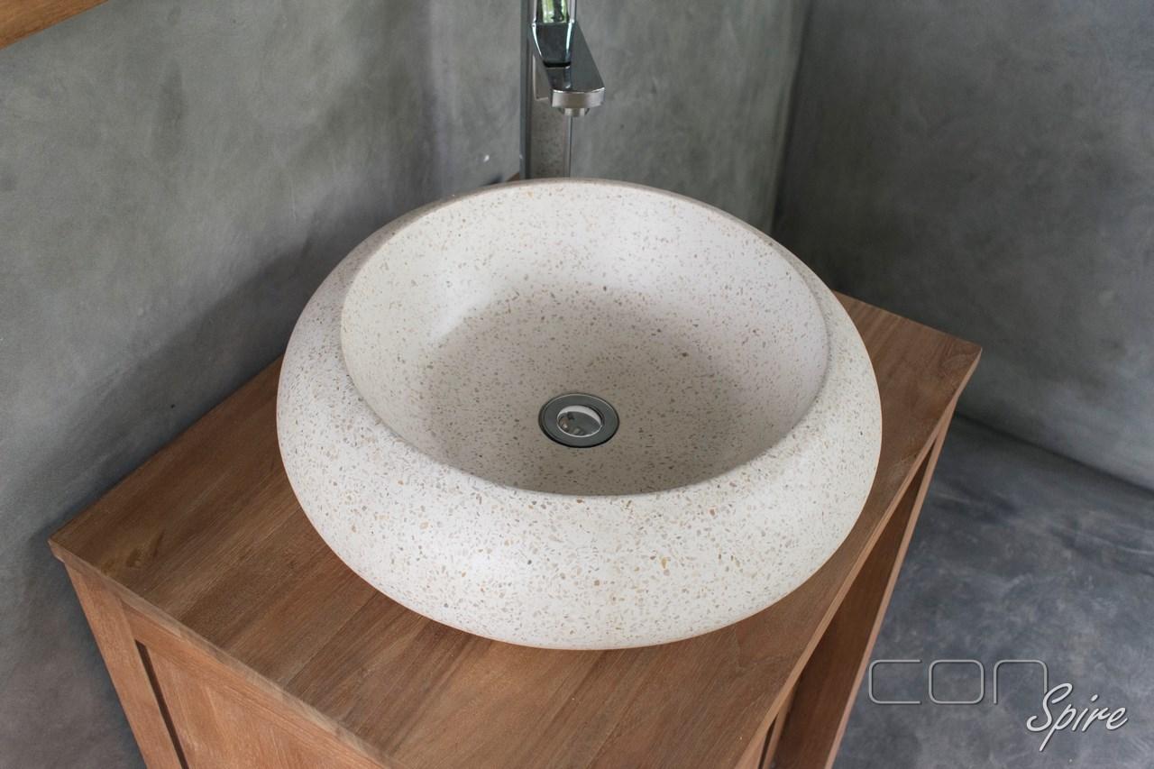 Terrazzo Sink White Round Indonesia