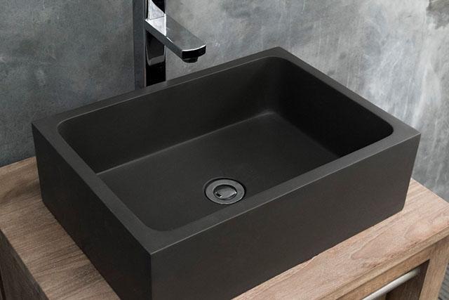 Conspire Florentina Dark Grey Modern Concrete Basin