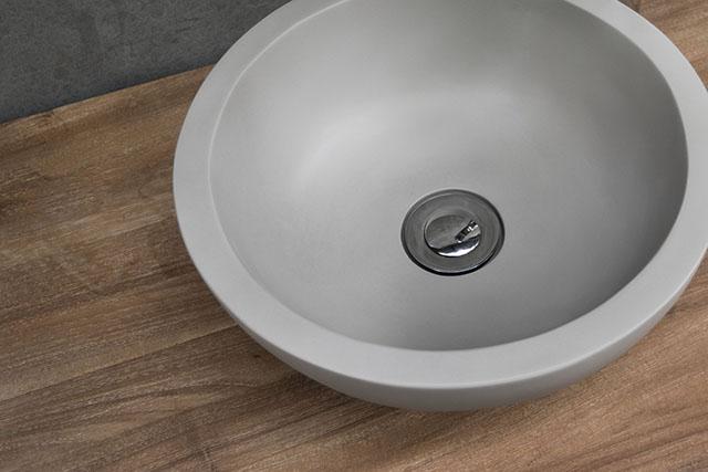 Palermo round casted concrete basin