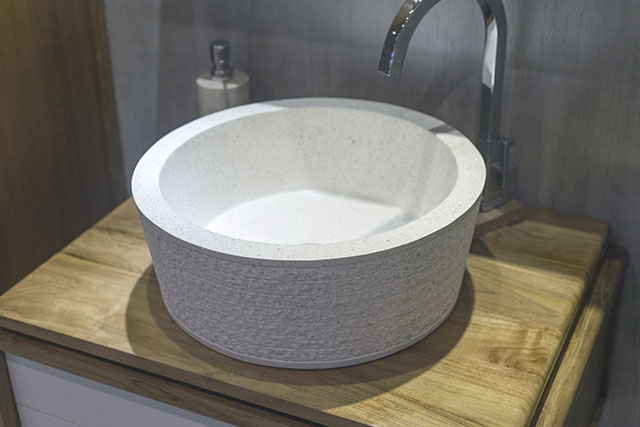 Rimini Handmade White Terrazzo Basin / Sink