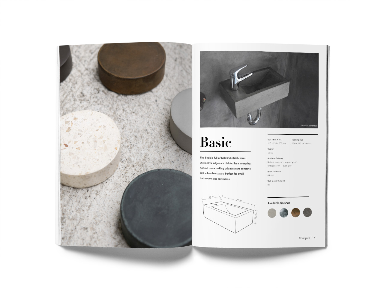 ConSpire Concrete Basin Catalogue