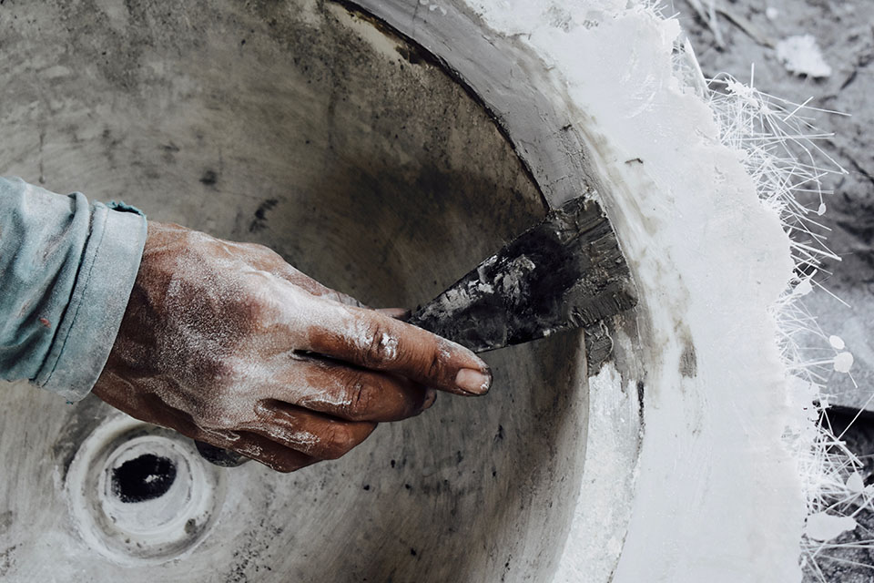 Handcrafted Concrete Basins