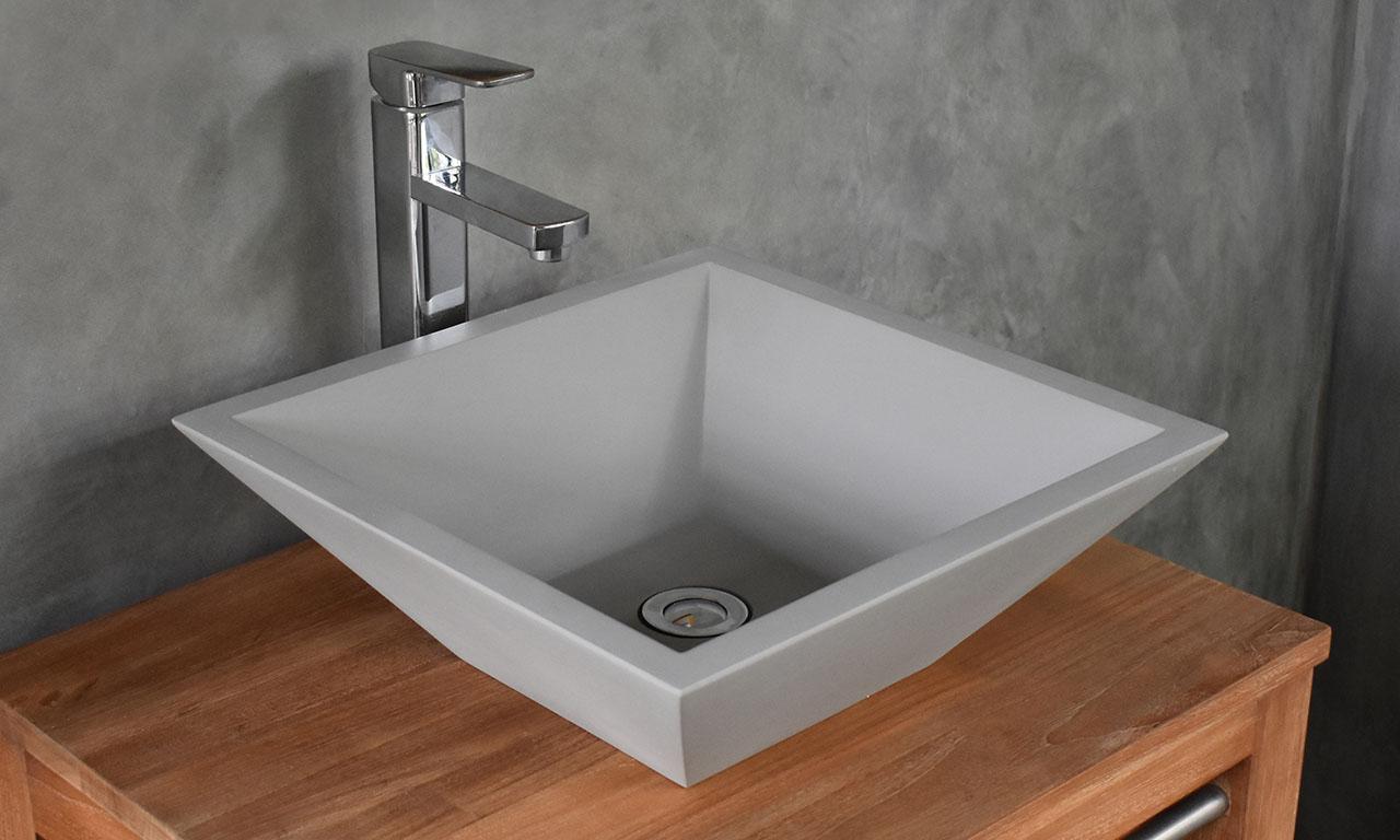 ConSpire Grappa Basin Light Grey Concrete