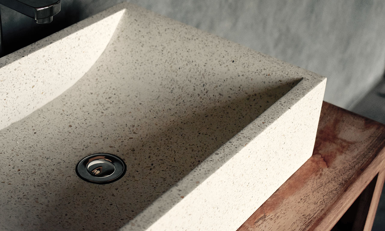 ConSpire Industrial Design Terrazzo Bathroom Basin