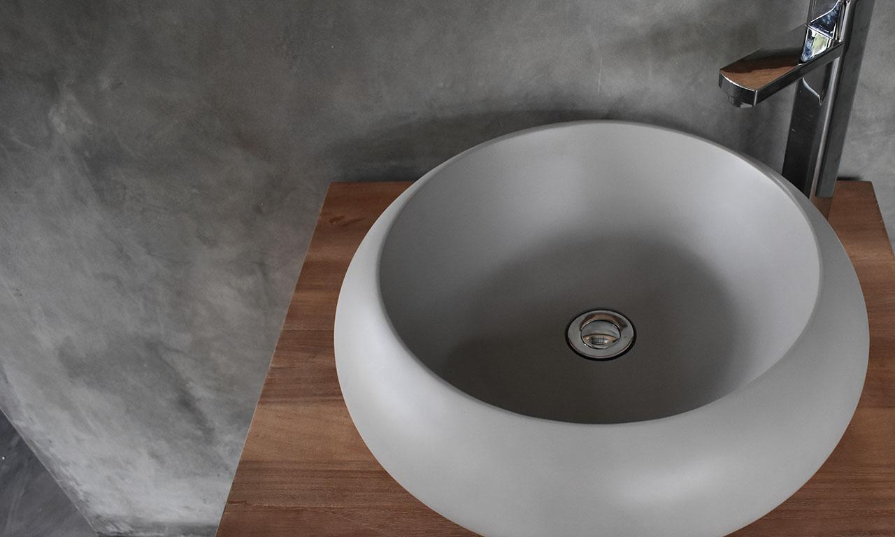 Conspire Milano Basin Light Grey Concrete