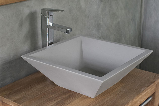 Grappa Light Grey Handmade Concrete Basin