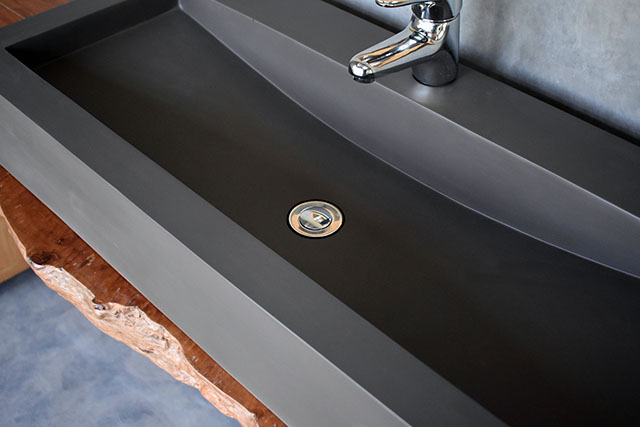 Horizon Dark Grey Concrete Basin