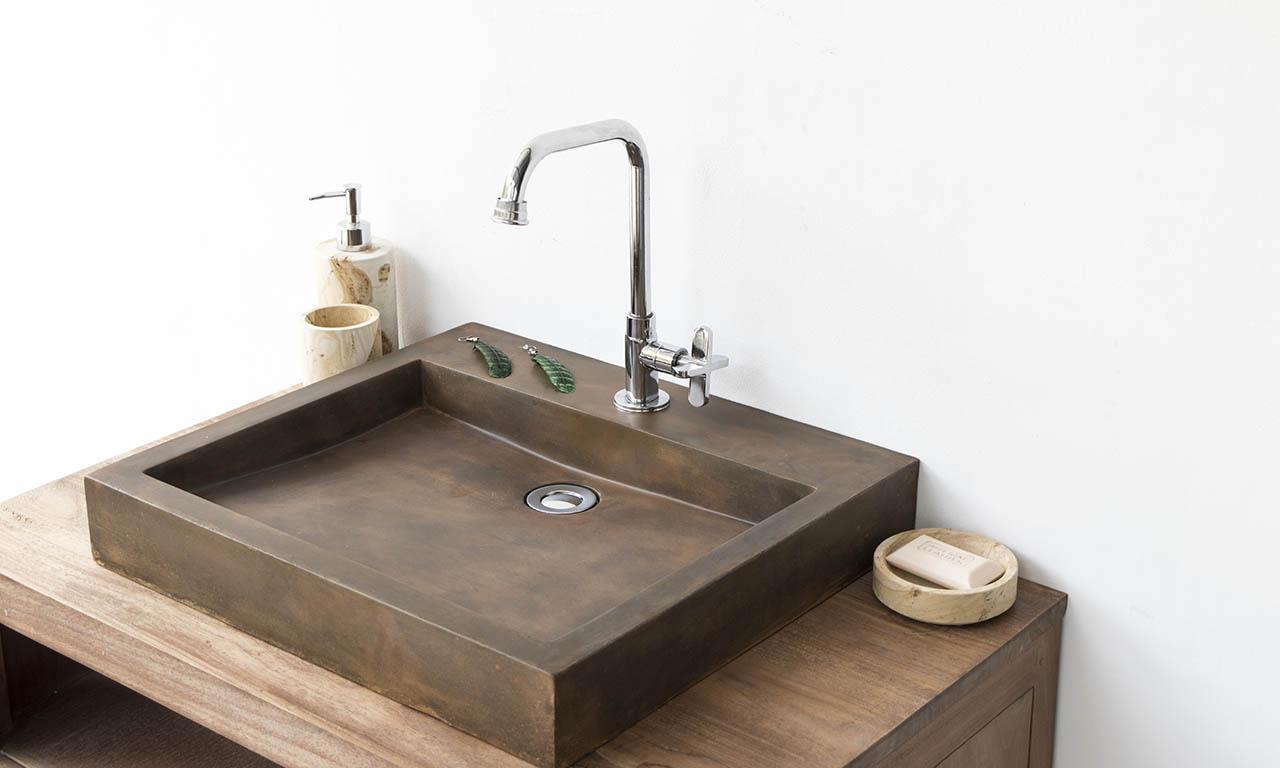 Indonesian Handmade Concrete Washbowl