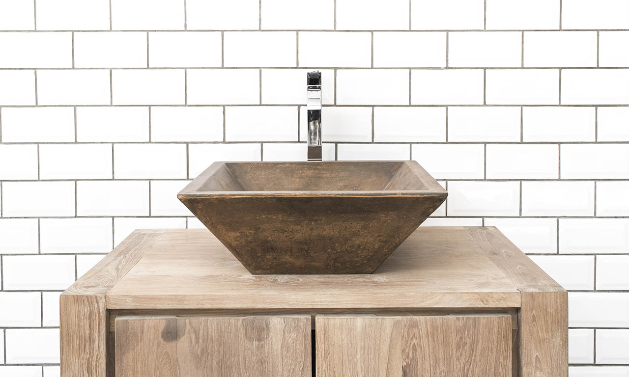 ConSpire Grappa Concrete Basin Vintage Brown