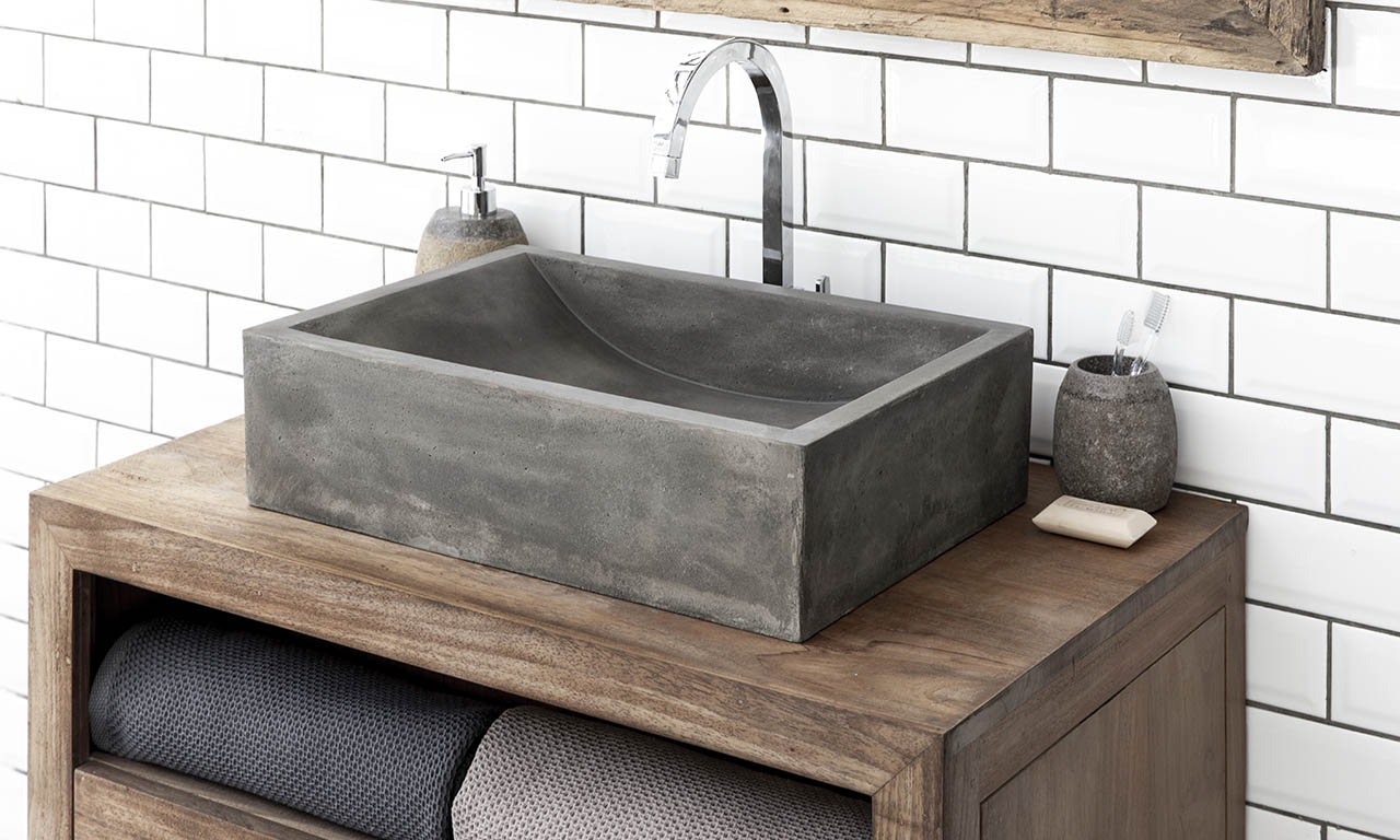 ConSpire Industrial Design Concrete Bathroom Washbowl