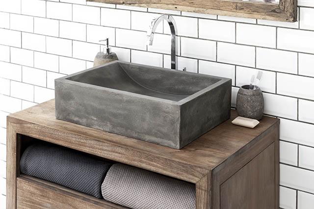 Torino Contemporary Design Concrete Basin
