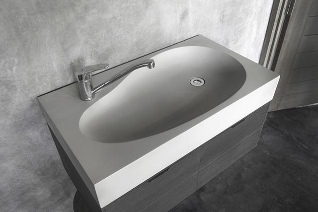 Sol Handmade Dark Grey Concrete Counter Sink